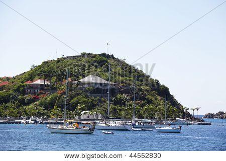 Fort Gustav overlooking Gustavia Harbor in St Barths