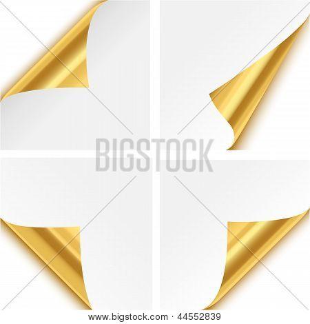 Gold Paper Corner Folds