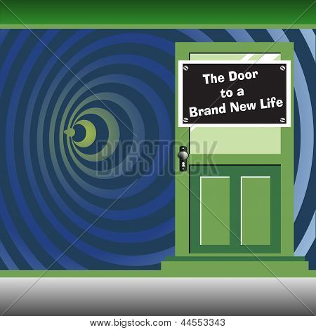 The door to a brand new life