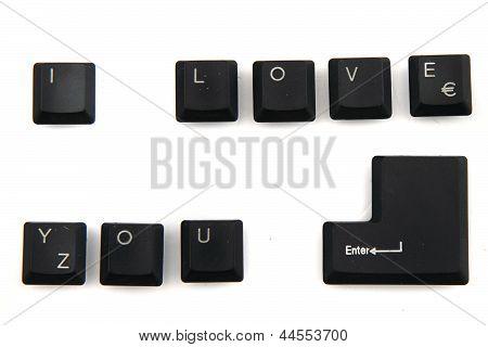 I Love You Keyboard Keys
