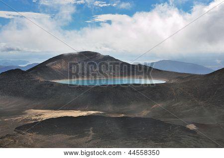 Beautiful volcanic lake