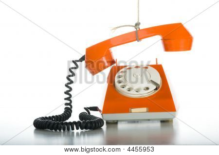 Someone Pulling Rope With Orange Phone