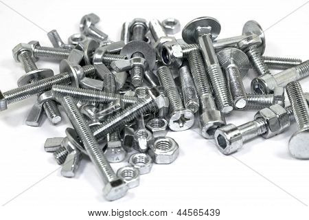 Bolts On A White Background