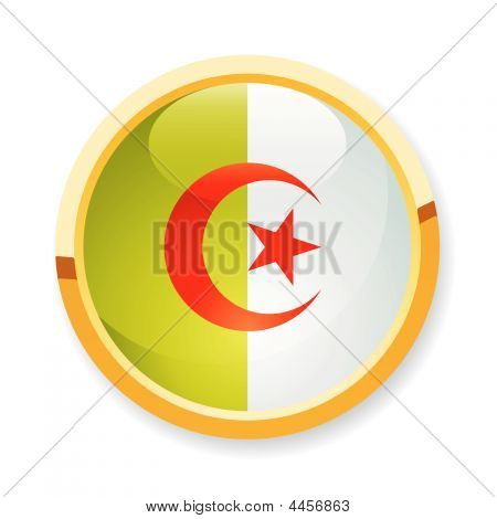 Algeria Flag Button