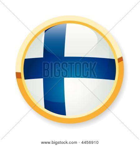 Finnish Flag Button