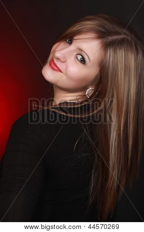 Portait Of A Gorgeous Young Woman