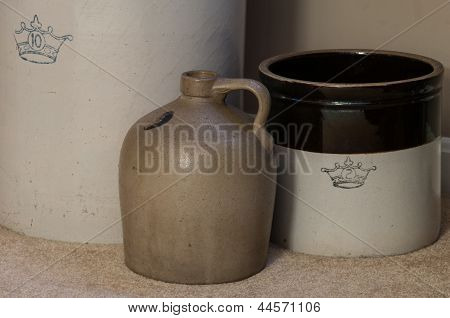 Antique Pottery Crocks