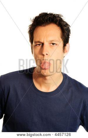 Portrait Of A Joking Man