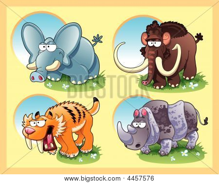 Prehistoric Animals With Background