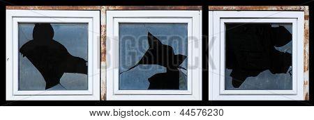 Broken Windows Of Old Building