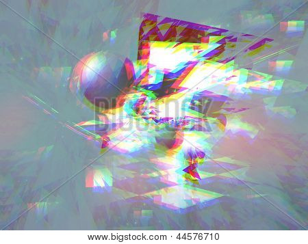 Triangle Explosion With Anaglyph Effect