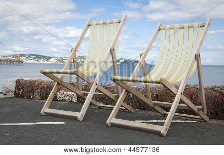 Deckchairs In Paignton Devon