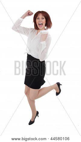 Happy Woman Dancing For Joy