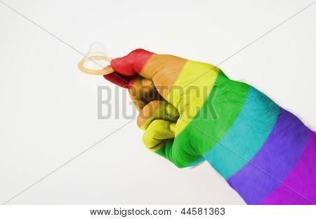 Male Giving A Condom