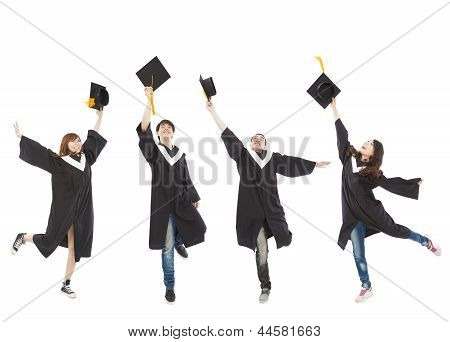 Happy  Young Graduate Students Group
