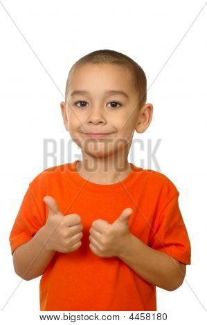 Five-year-old Boy Giving Thumbs Up