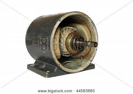 Dissasembled dc elektromotor