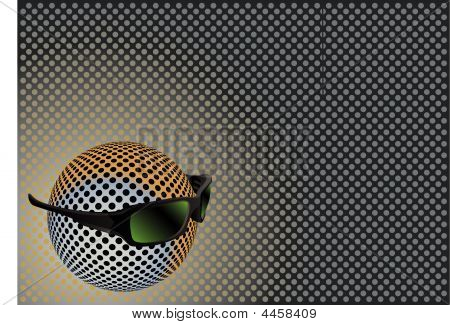 Sphere With Sunglasses