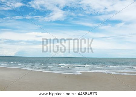 Seascape Of Huahin Thailand