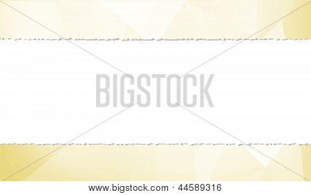 creased paper frame