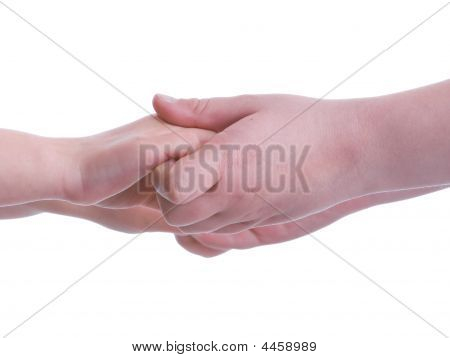 Children Holding Hands Close Up