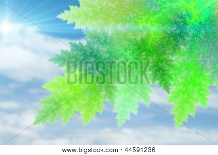 Green abstract fractal pattern