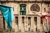 Sighisoara, Clock Tower, Saxon Landmark Of Transylvania In Romania Close Up poster