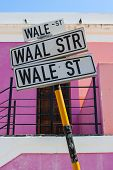 Wale Street Sign Post