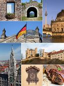 Landmark Collage - Germany poster
