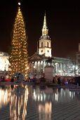 pic of christmas lights  - nightscene in london - JPG