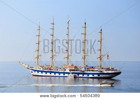 Sailing ship on the ocean