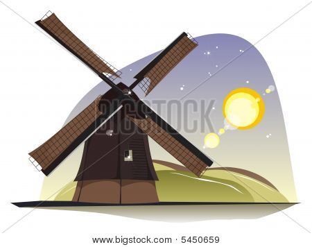 Windmill In The Sunlight