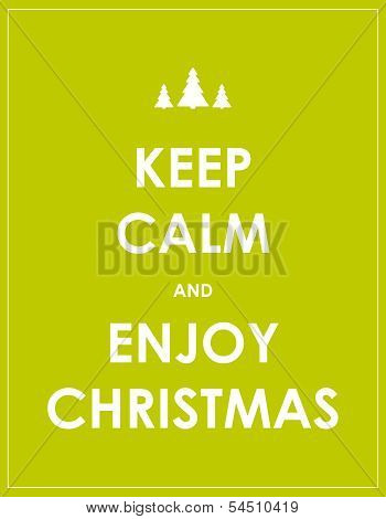 Keep Calm Modern Christmas Background