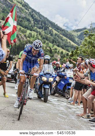 Arnold Jeannesson Climbing Alpe D'huez