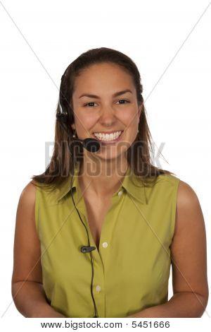 Woman With Headphone