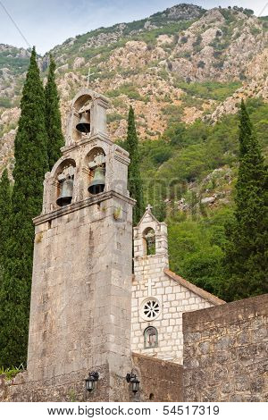 Bell Tower Of Monastery Banja. Risan, Montenegro