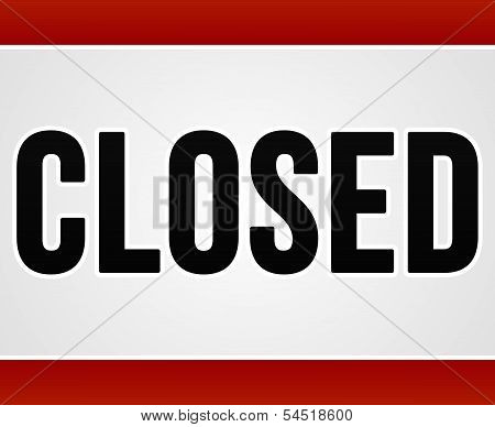 Red Closed Sign