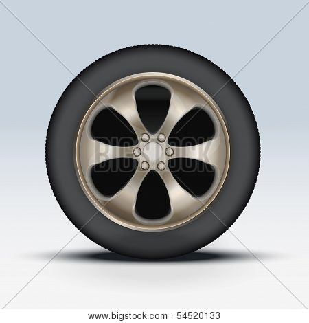 Wheel of car. Vector Illustration