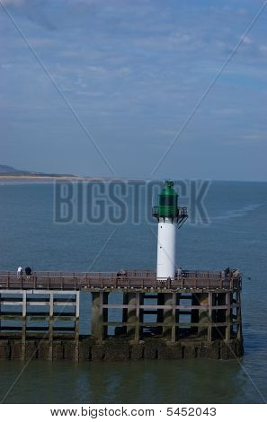 Lighthouse On Pier At Calais