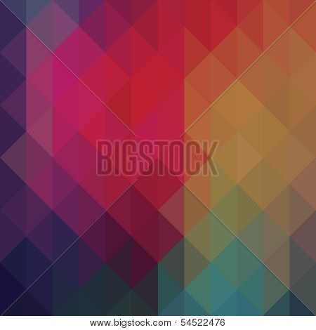 Triangle neon geometric background