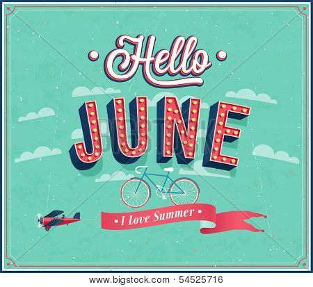 Hello June Typographic Design.