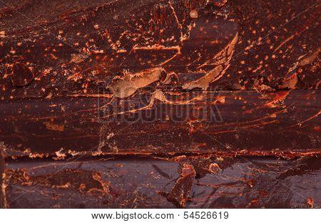 Heap Of Delicious Black Chocolate Texture Closeup