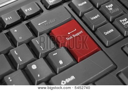Tech Support Keyboard Enter Key