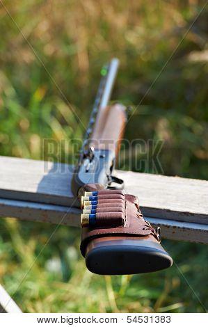 Shotgun With Ammunition