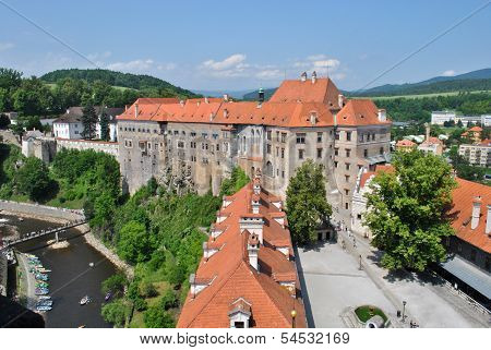 Castle in Cesky Krumlov, Czech Republic