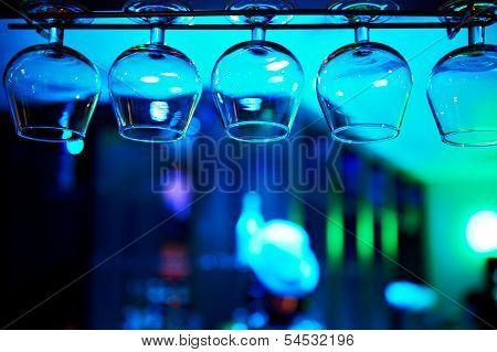 Glasses Of Brandy Over The Bar
