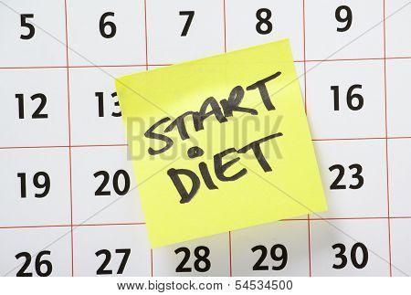 Start Diet Reminder