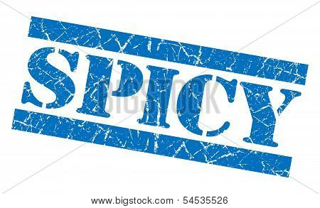 Spicy Blue Grunge Stamp