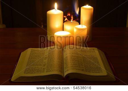 Student candlelit study