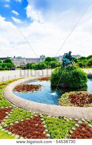 Heldenplatz Park In Vienna At Spring